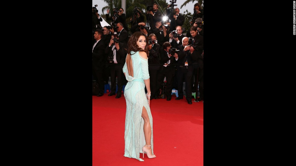 """Eva Longoria attends the May 18 Cannes screening of """"Jimmy P. Psychotherapy of a Plains Indian."""""""