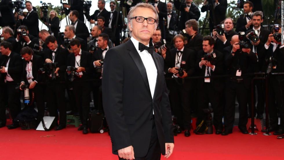 "Christoph Waltz attends the May 19 Cannes screening of ""Inside Llewyn Davis."""