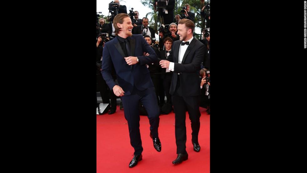 "Garrett Hedlund and Justin Timberlake attend the ""Inside Llewyn Davis"" screening."