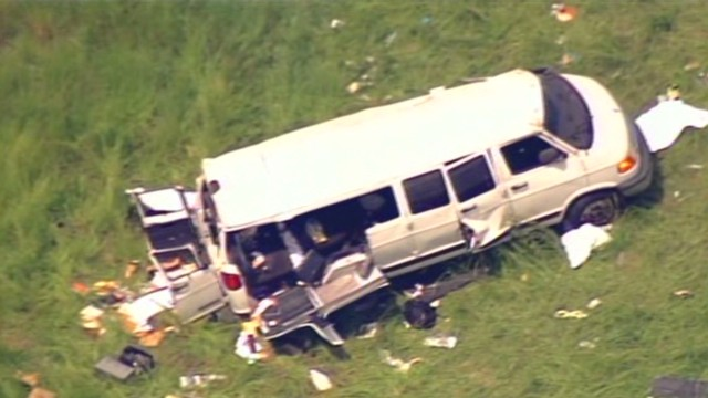 See aerials of deadly crash