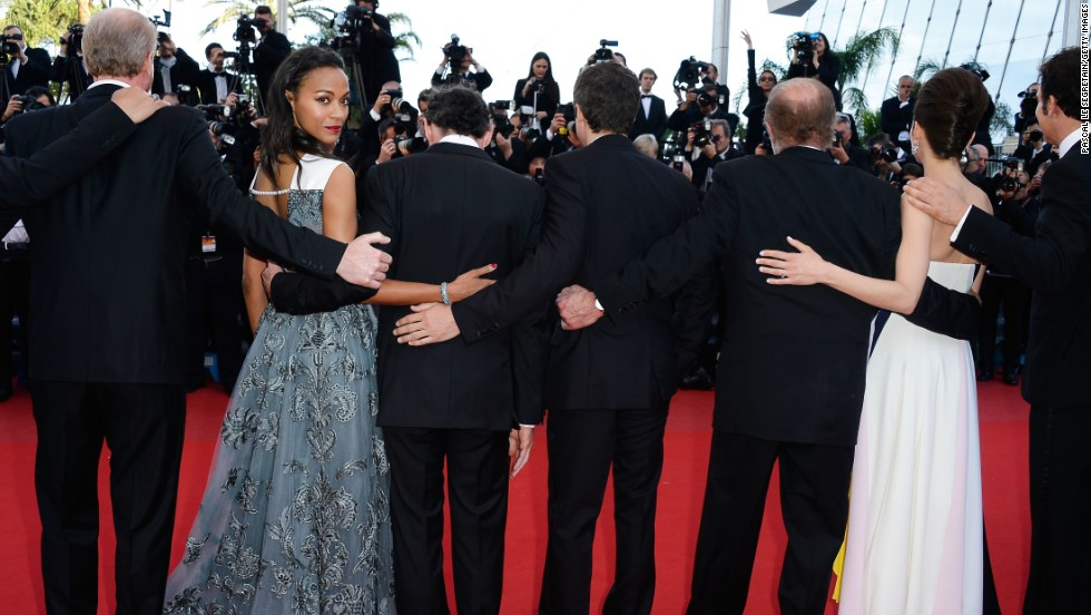 "Zoe Saldana attends the premiere of ""Blood Ties"" at the Cannes Film Festival on May 20."