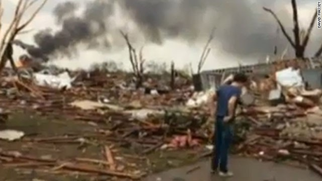 Vine videos show tornado devastation