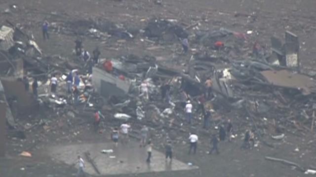 Tornado leaves path of destruction