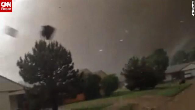Dad drives to get son as tornado hits