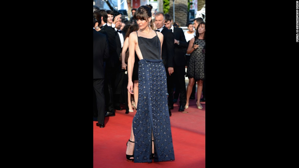 "Milla Jovovich attends the Cannes premiere of ""Cleopatra"" on May 21."