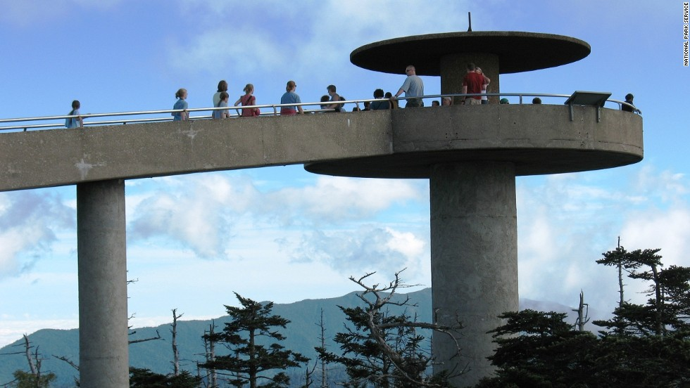 "For a spectacular view, walk up to the observation tower at <a href=""http://www.nps.gov/grsm/planyourvisit/clingmansdome.htm"" target=""_blank"">Clingmans Dome</a>. Once you've visited the tower, you can even walk a little bit of the Appalachian Trail."