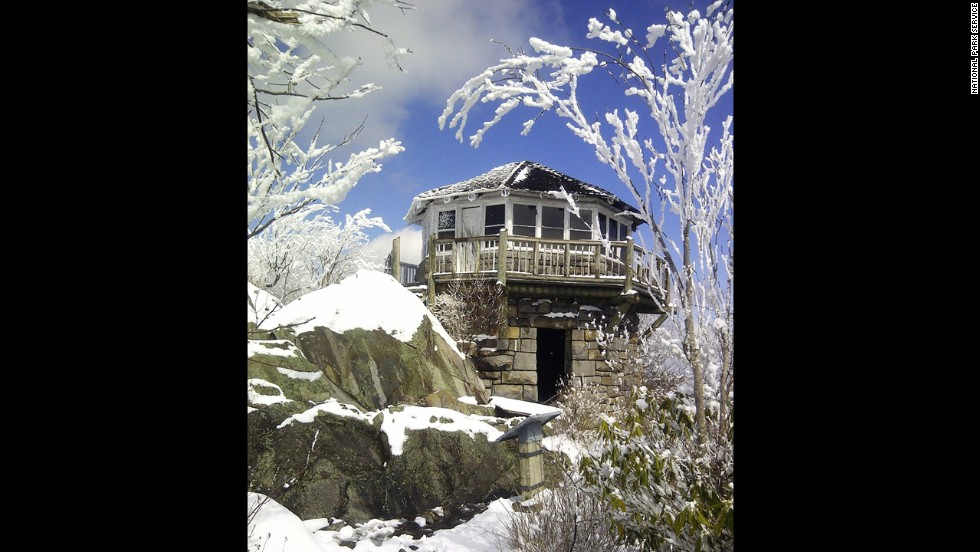 Worth's favorite spring and fall hike is to Mount Cammerer Fire Tower, but it's fairly intense: About 11 miles round trip or longer if you hike the loop. It's beautiful in the snow, too.