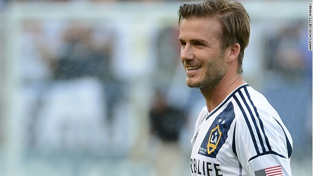 David Beckham during his moment together with American team Los Angeles Galaxy.
