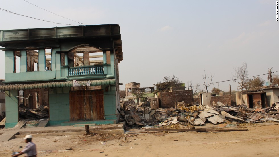 In March this year, the town of Meiktila in central Myanmar was engulfed in deadly sectarian violence that destroyed whole blocks of housing, shops and mosques.