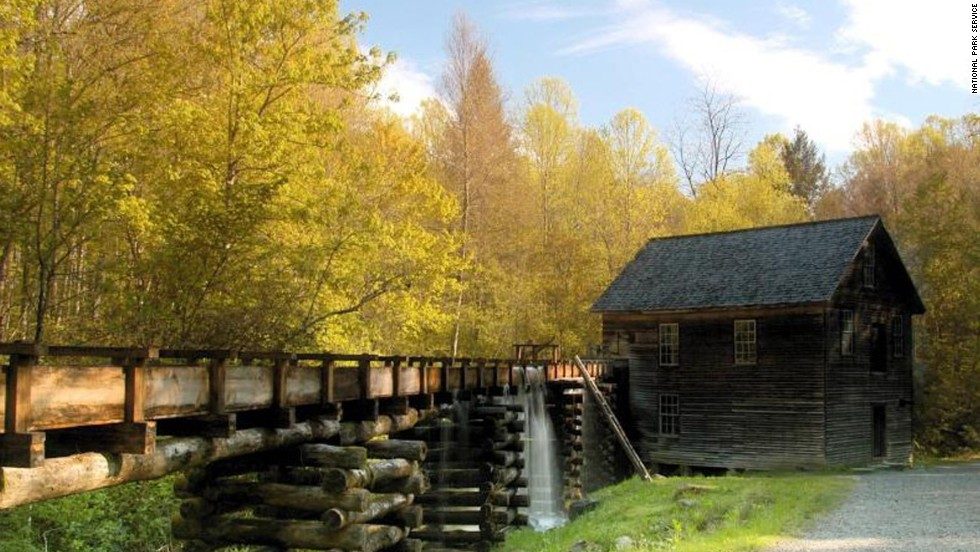 The historic Mingus Mill, built in 1886, helps children imagine life in the late 1800s.