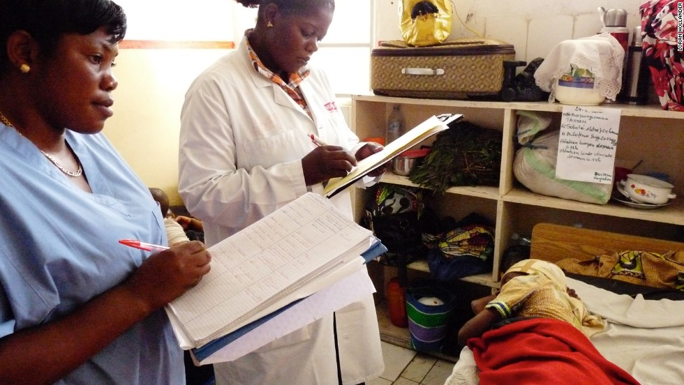 Dr. Cathy Furaha, the only female fistula surgeon in the Democratic Republic of Congo, tells a patient her operation was a success.