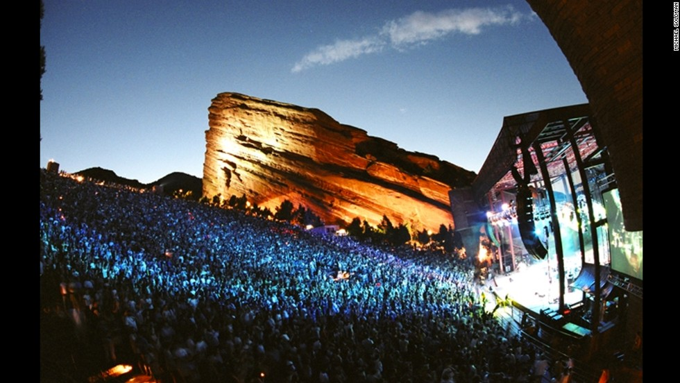 Red Rocks Amphitheatre in Colorado offers spectacular natural scenery and stargazing in addition to big names in music.
