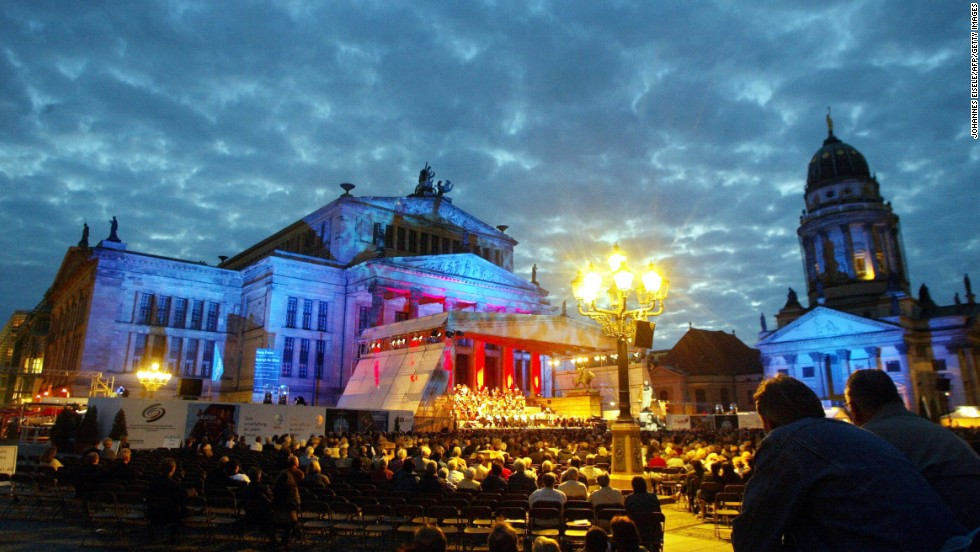 The Classic Open Air Festival at Gendarmenmarkt Square in Berlin runs this year for five consecutive nights, July 4-8.