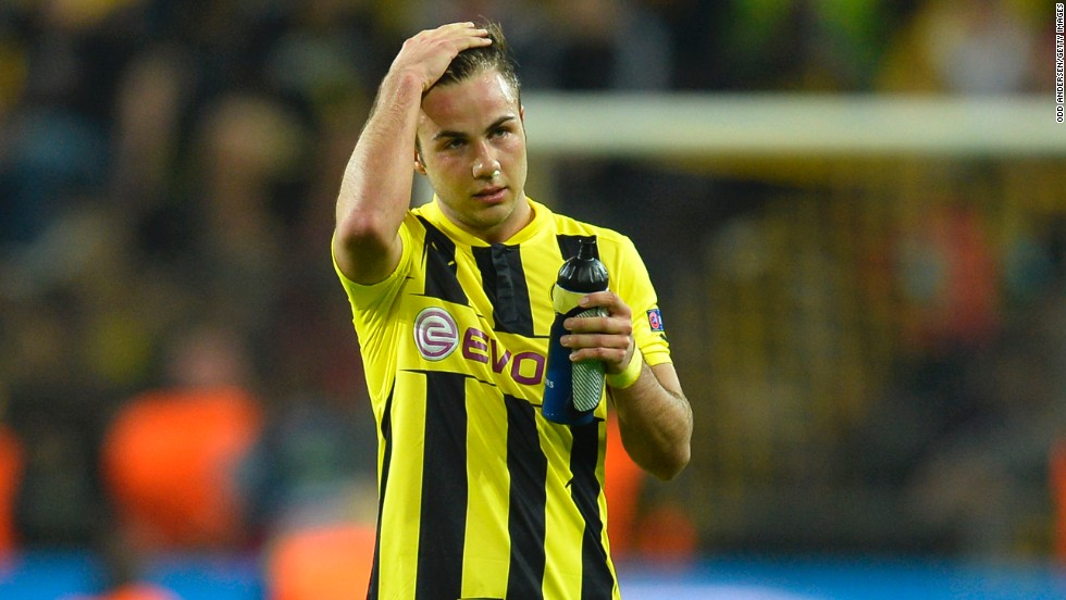 Borussia Dortmund's Mario Gotze will miss Saturday's Champions League final against future employers Bayern Munich because of a hamstring injury.