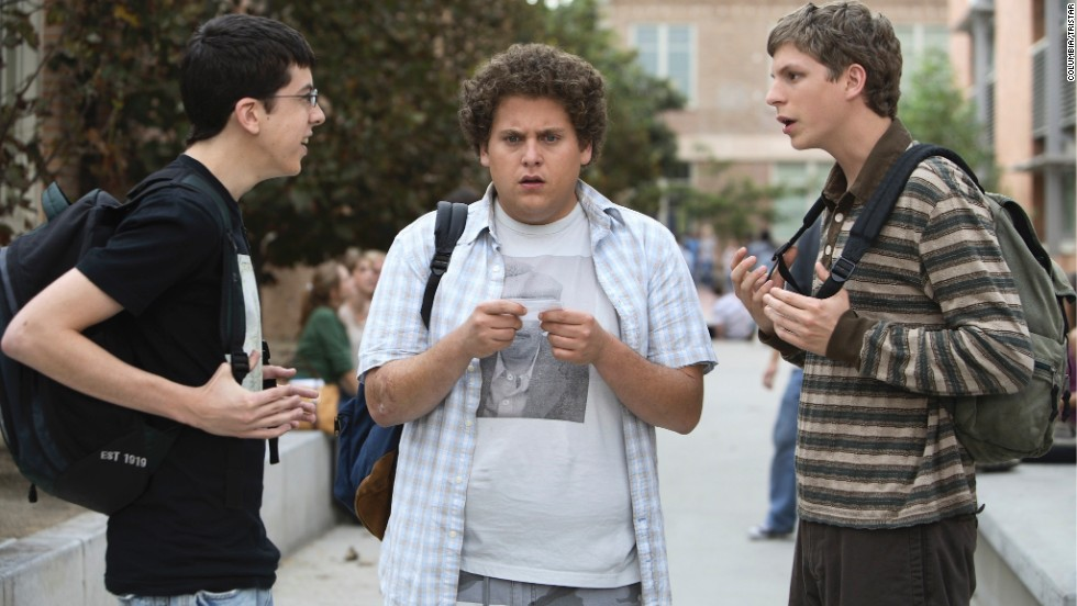 "<strong>""Superbad"" (2007)</strong>: A buddy movie set amid the drama of high school, Jonah Hill had a breakout role along with Michael Cera and ""McLovin'"" Christopher-Mintz Plasse as they portrayed a trio of uncool kids whose use of a fake IDs sets off the night of their lives."