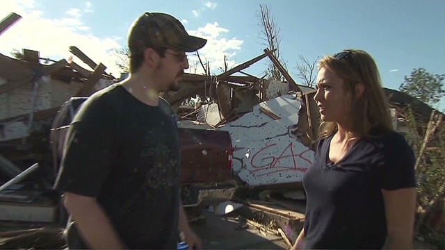 Tornado survivor: 'I just got lucky'