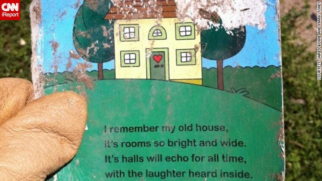 iReporter Mark Toney found this poignant children's book while helping with tornado recovery efforts.