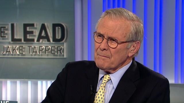 Rumsfeld grades Bush, Obama