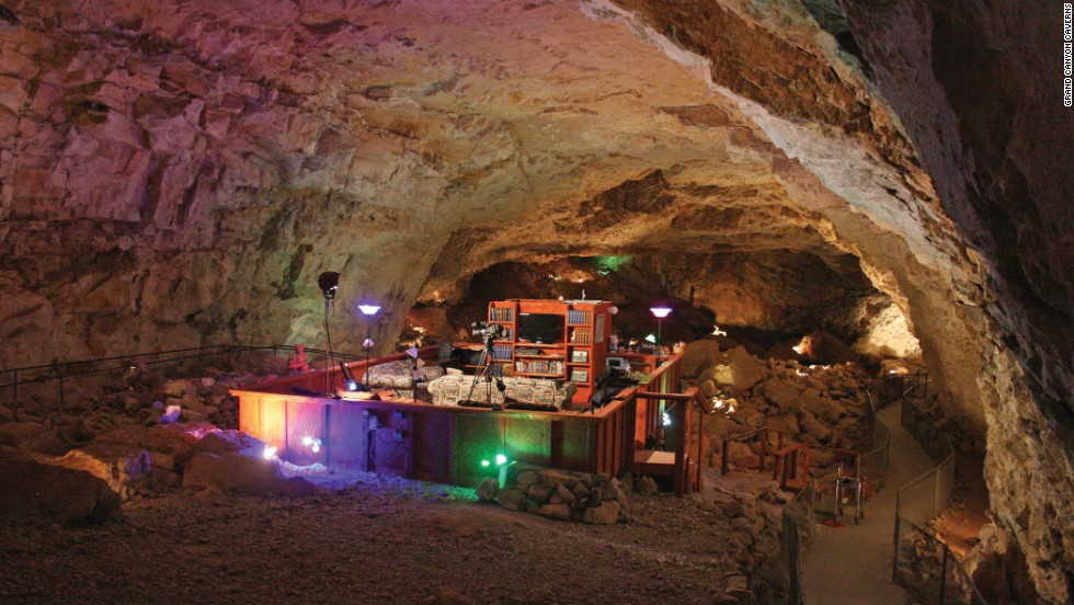 Grand Canyon Caverns' underground suite in Arizona features a living area 220 feet underground.