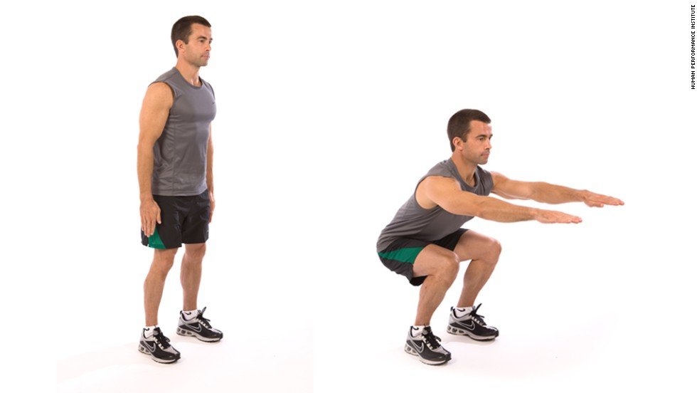 Squat: Works lower body