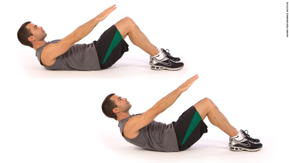 Abdominal crunch: Works core