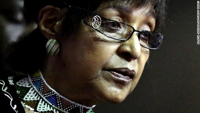 Winnie Madikizela Mandela, seen in a file photo from 13 March, 2010.