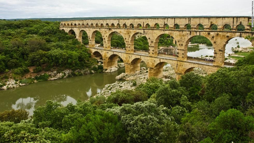 Pont du Gard, Gard, France.