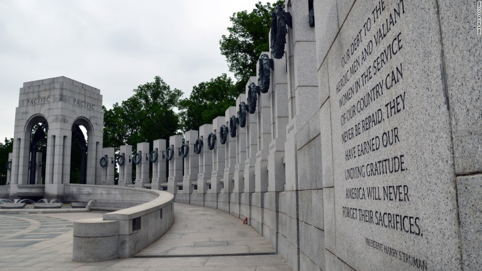 The National World War II Memorial opened in 2004 and honors the 16 million Americans who served in that war.