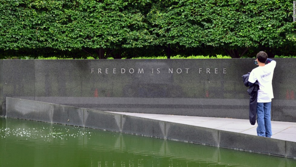 The Korean War Veterans Memorial carries a simple message.