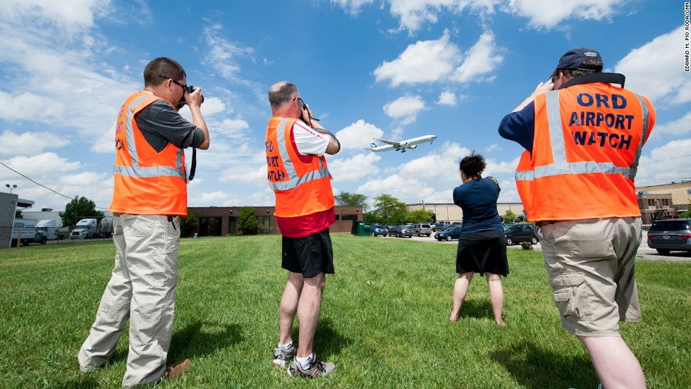 Taking their name from ORD -- O'Hare's international airport code -- ORD Airport Watch members are obsessed with photographing, tracking and documenting the movement of aircraft. That's what makes them plane spotters.