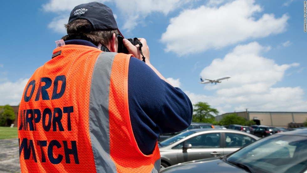 If you're one of the millions of travelers who fly into Chicago every year, you might want to thank them -- because they're helping the FBI, Transportation Security Administration and other authorities protect<strong> </strong>you<strong> </strong>from terrorists. Spotters undergo police background checks and are trained to recognize and report suspicious activity to police. Their motto: Observe, document and report.<br />