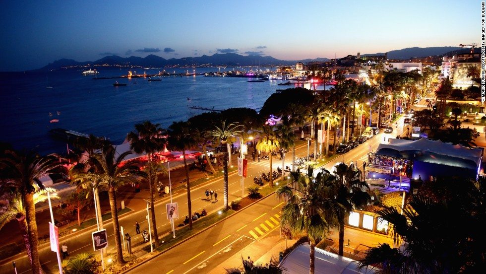 """A view from the """"Cleopatra"""" cocktail at Cannes on May 21."""