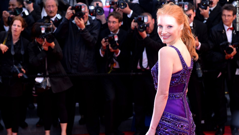 """Jessica Chastain attends the Cannes premiere of """"All Is Lost"""" on May 22."""