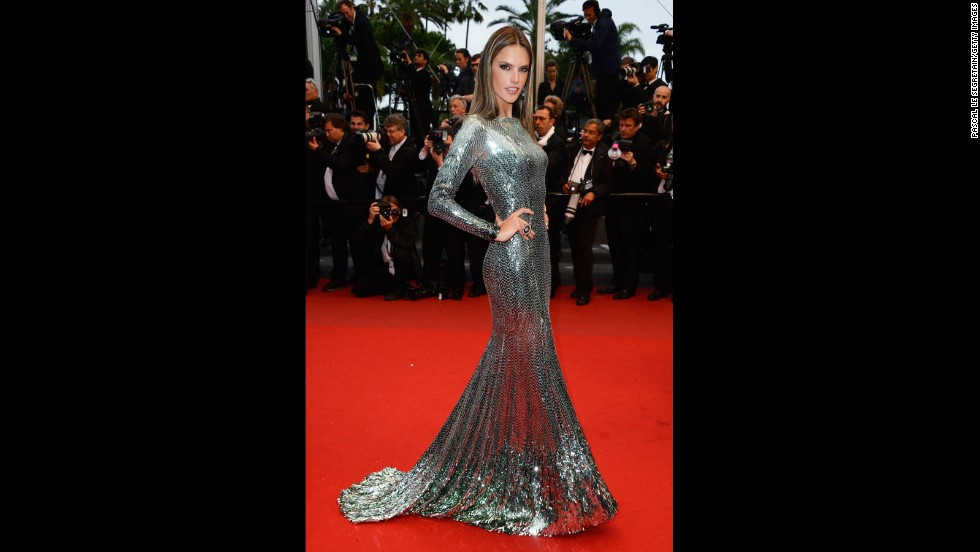 """Model Alessandra Ambrosio attends the Cannes premiere of """"All Is Lost"""" on May 22."""