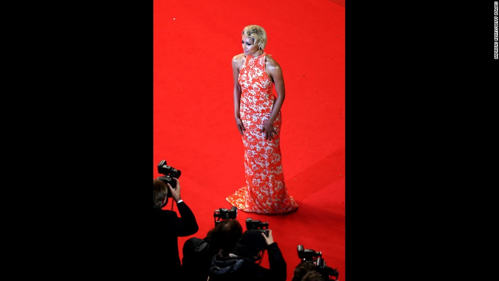 """""""The Vampire Diaries"""" actress and singer Kat Graham attends the Cannes premiere of """"Only God Forgives"""" on May 22."""