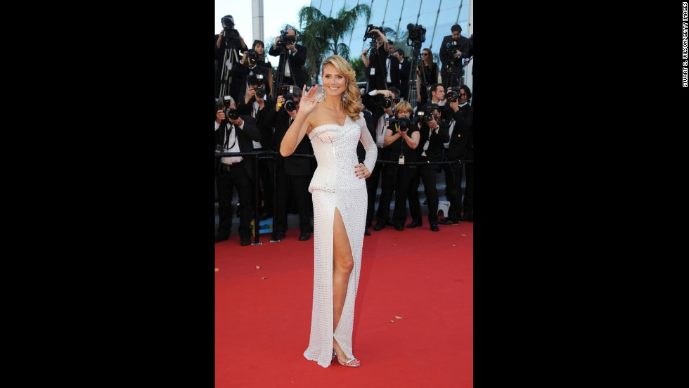 "Heidi Klum attends the Cannes premiere of ""Nebraska"" on May 23."