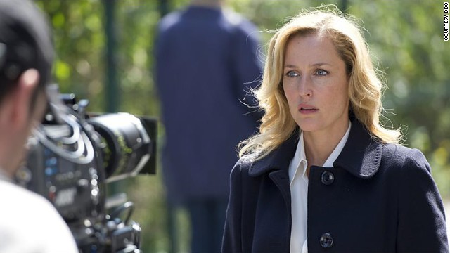 "Gillian Anderson plays Stella Gibson in the BBC series ""The Fall."""