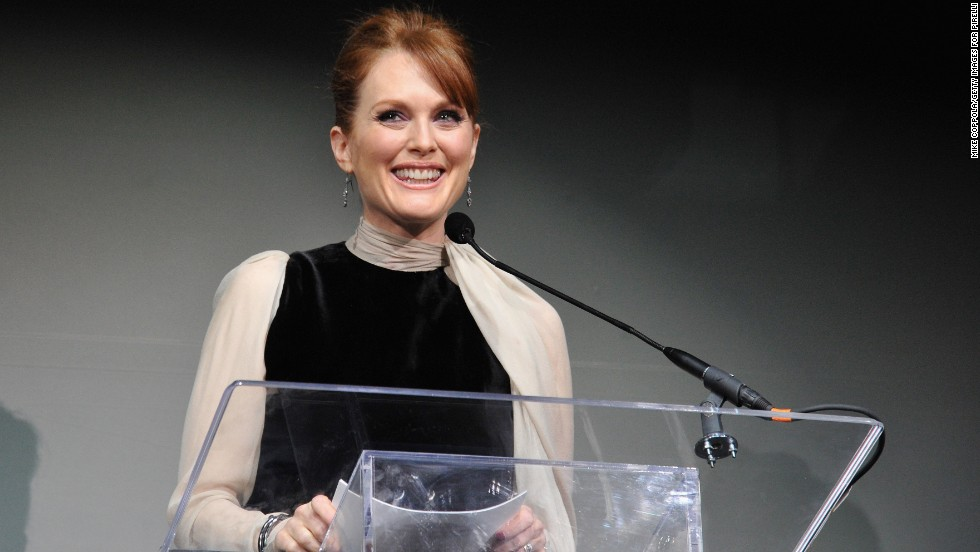 "During a 2002 interview on ""<a href=""http://www.bravotv.com/inside-the-actors-studio"" target=""_blank"">Inside the Actor's Studio</a>,"" actress Julianne Moore was asked what she would like to hear God say to her at the gates of heaven. She replied, ""Well, I guess you were wrong. I do exist."""