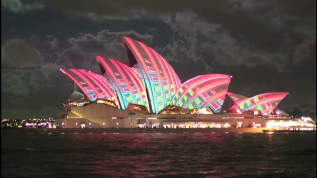 Sydney lights up