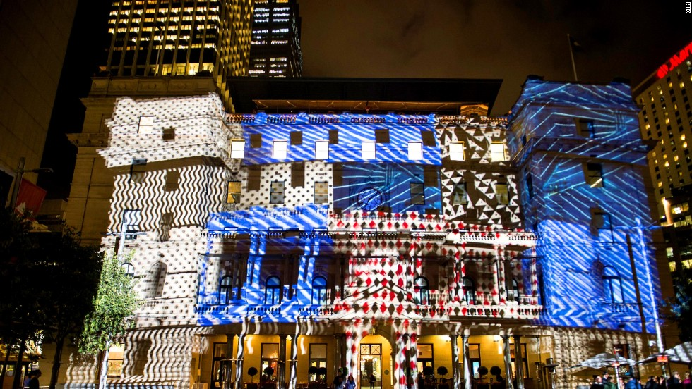 Customs House is another iconic Sydney structure lit up for the festival.