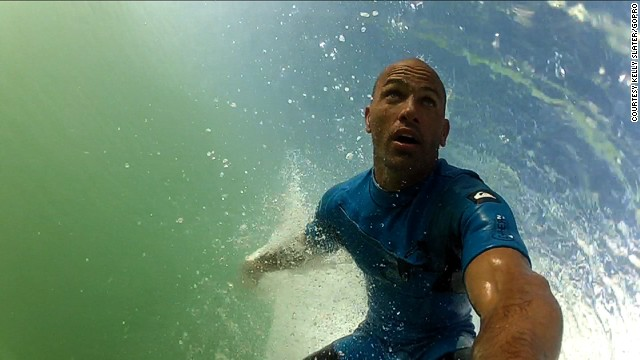 Kelly Slater's surfing addiction