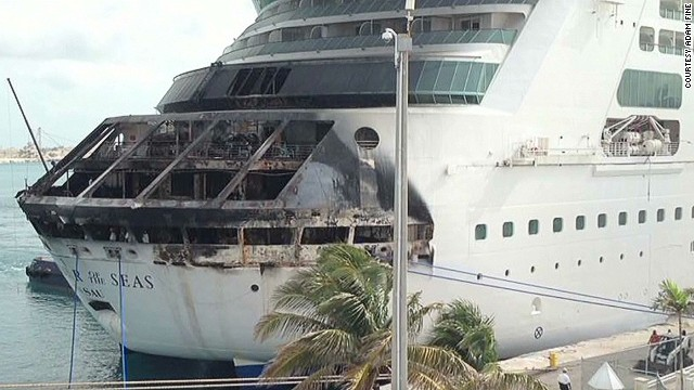 Fire breaks out on cruise ship