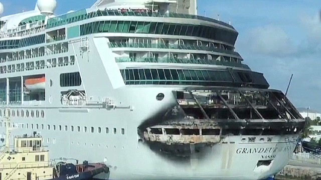 See aftermath of cruise ship fire