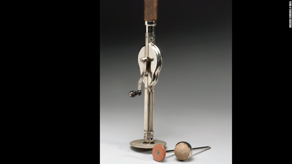 """The """"Veedee"""" vibratory massager had two attachments. It is German and dates to between 1901 and 1930. Massage was considered an effective treatment for combating almost any ailment in the late 1800s, according to <a href=""""http://www.sciencemuseum.org.uk/broughttolife.aspx"""" target=""""_blank"""">the museum's History of Medicine website</a>."""