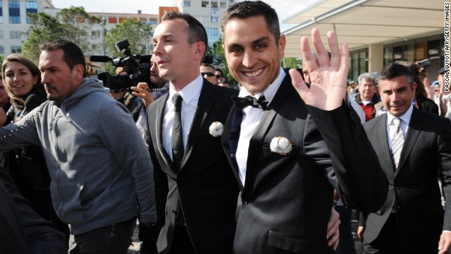 Vincent Autin and Bruno Boileau were the first same-sex couple to marry in France in May 2013.