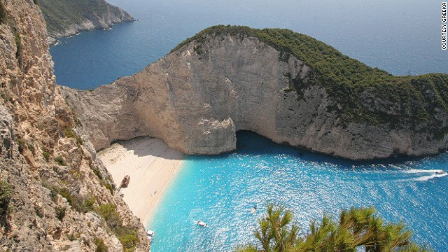 32. Navagio Beach, Greece