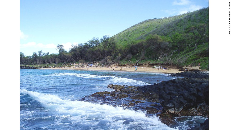 Little Beach is an out-of-the-way cove where visitors often swim, snorkel and lounge like lizards in nothing but their sun-protection cream.