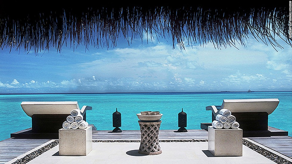 Before exposing delicate skin to sun, guests at Taj Exotica can build up to swimming in the buff on seaside sun beds.