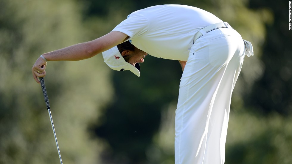Australian Aaron Baddeley revealed he prayed before hitting a putt during his first PGA Tour event just hours after speaking at the morning's Easter service.