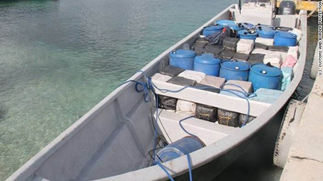 This speedboat was found carrying more than 3 tons of cocaine, authorities say.